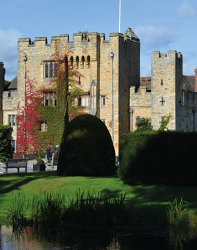Lights, camera, action, at Hever Castle