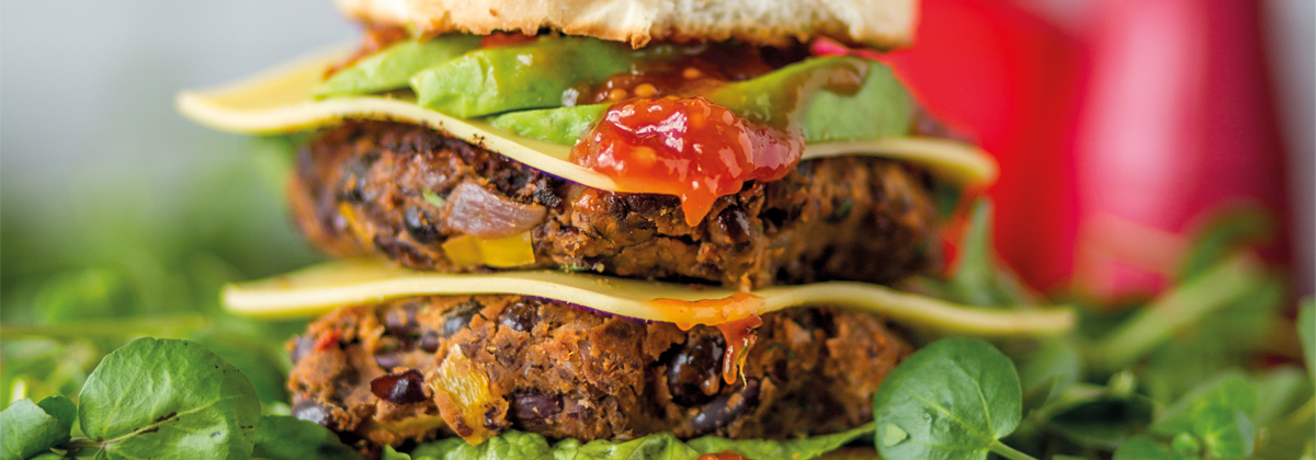 Image for Recipe: Black Bean and Watercress Vegan Burger