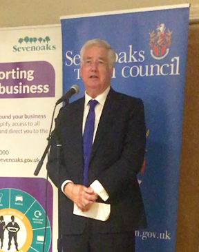 Image for Sir Michael Fallon opens the Sevenoaks Business Show